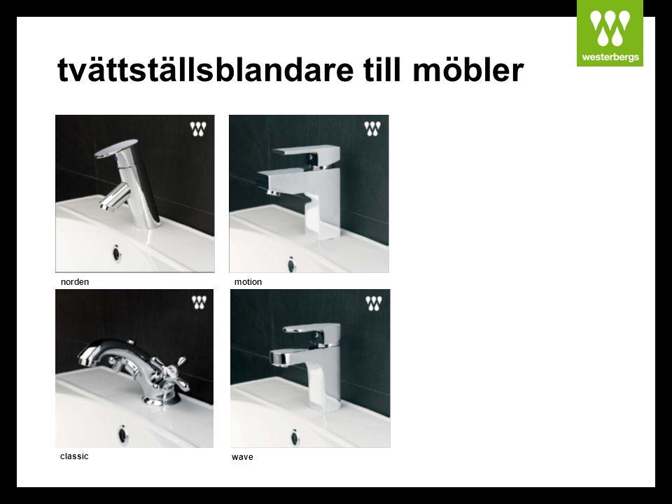 tvättställsblandare till möbler norden classic wave motion