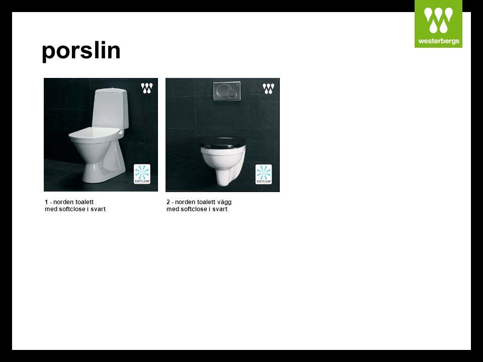porslin 1 - norden toalett med softclose i svart 2 - norden toalett vägg med softclose i svart