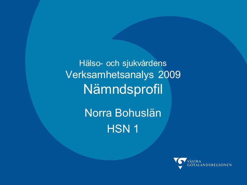 Hälso- och sjukvårdens Verksamhetsanalys 2009 Nämndsprofil Norra Bohuslän HSN 1