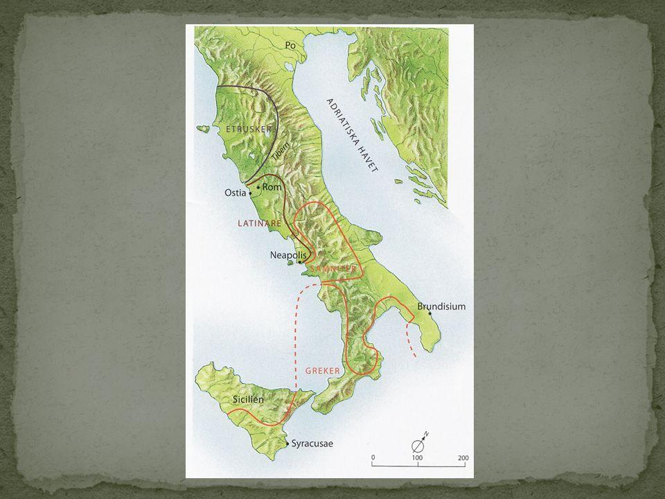 509 f.Kr. Staden Rom blir en republik. 270 f.Kr.