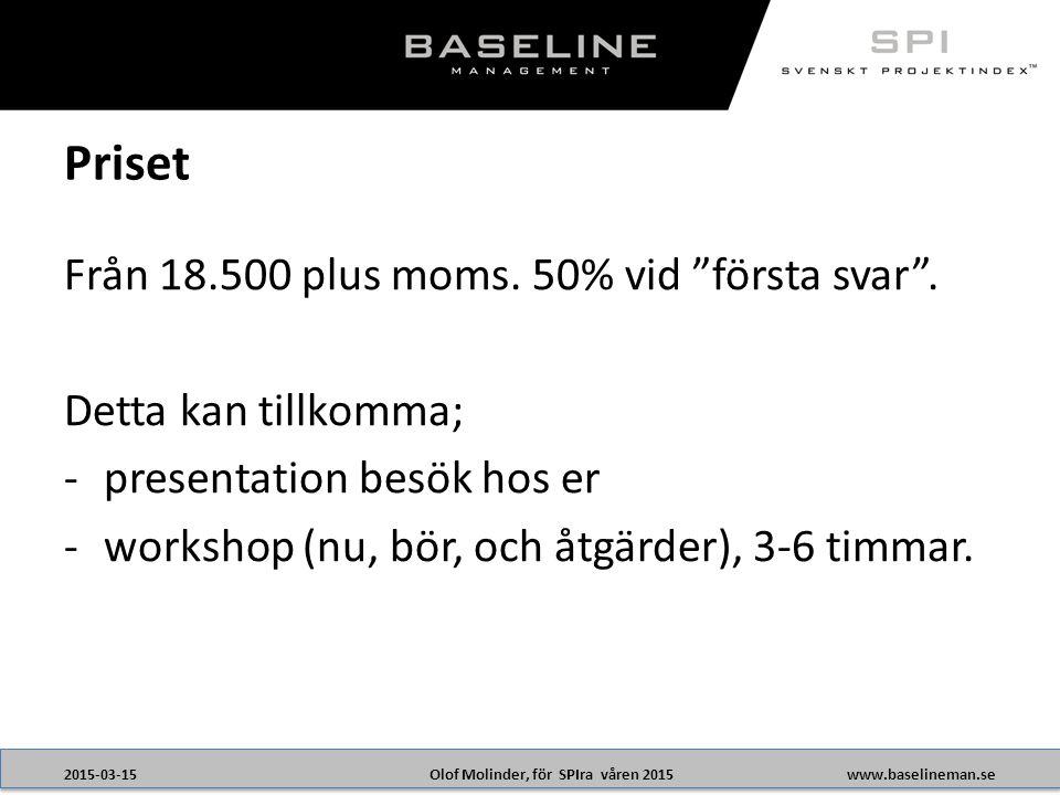 Olof Molinder, för SPIra våren 20152015-03-15www.baselineman.se Från 18.500 plus moms.