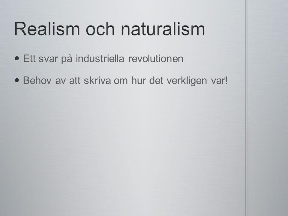 Ett svar på industriella revolutionen Ett svar på industriella revolutionen Behov av att skriva om hur det verkligen var.