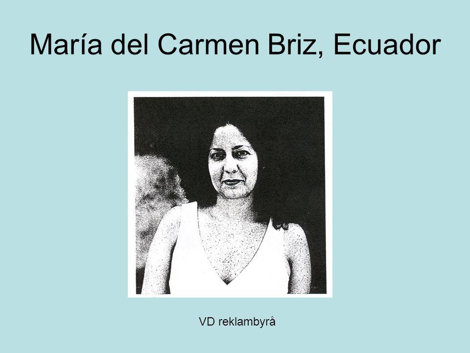 María del Carmen Briz, Ecuador VD reklambyrå