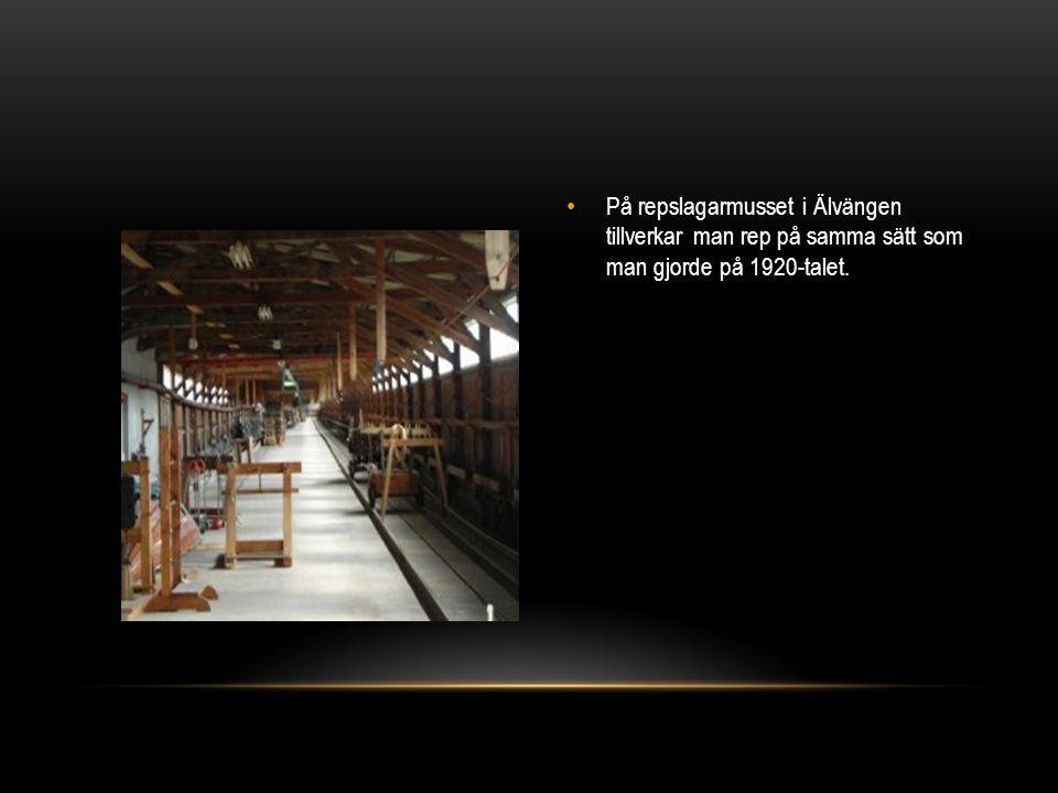 På repslagarmusset i Älvängen tillverkar man rep på samma sätt som man gjorde på 1920-talet.