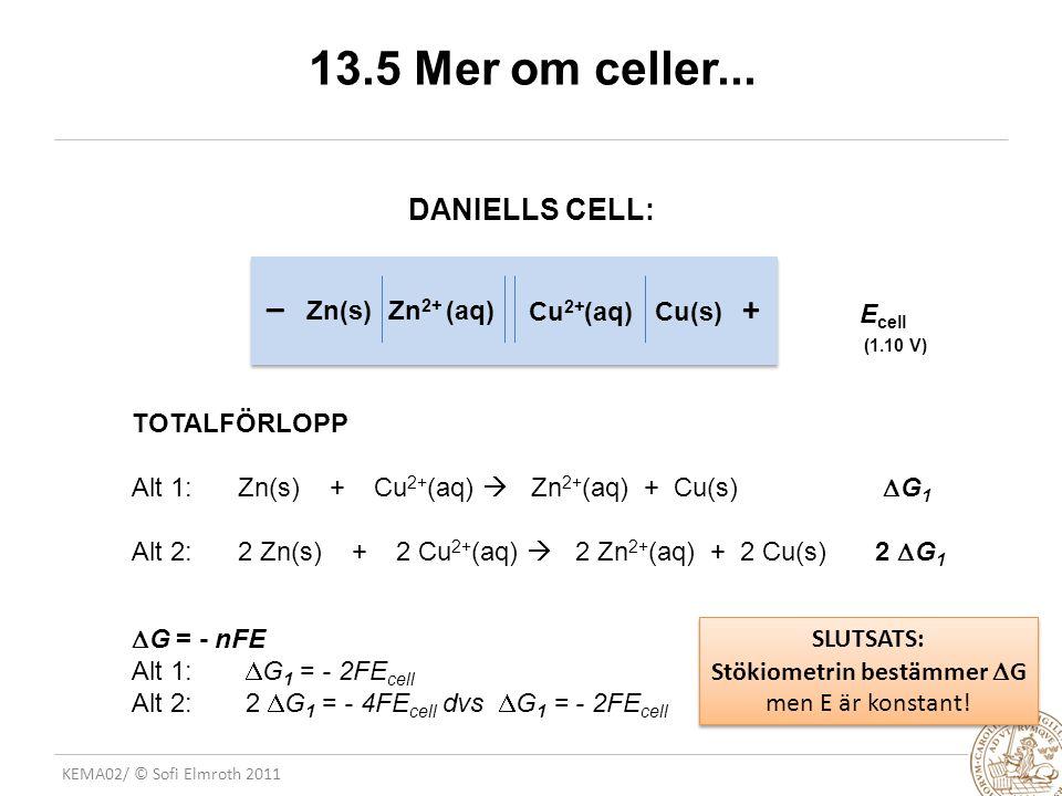 KEMA02/ © Sofi Elmroth 2011 13.5 Mer om celler...