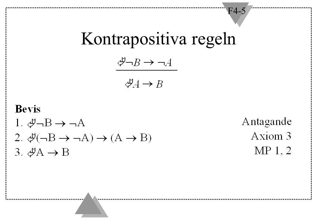 F4-5 Kontrapositiva regeln