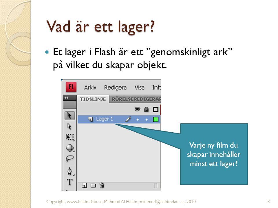 Skapa ett nytt lager Copyright, www.hakimdata.se, Mahmud Al Hakim, mahmud@hakimdata.se, 20104