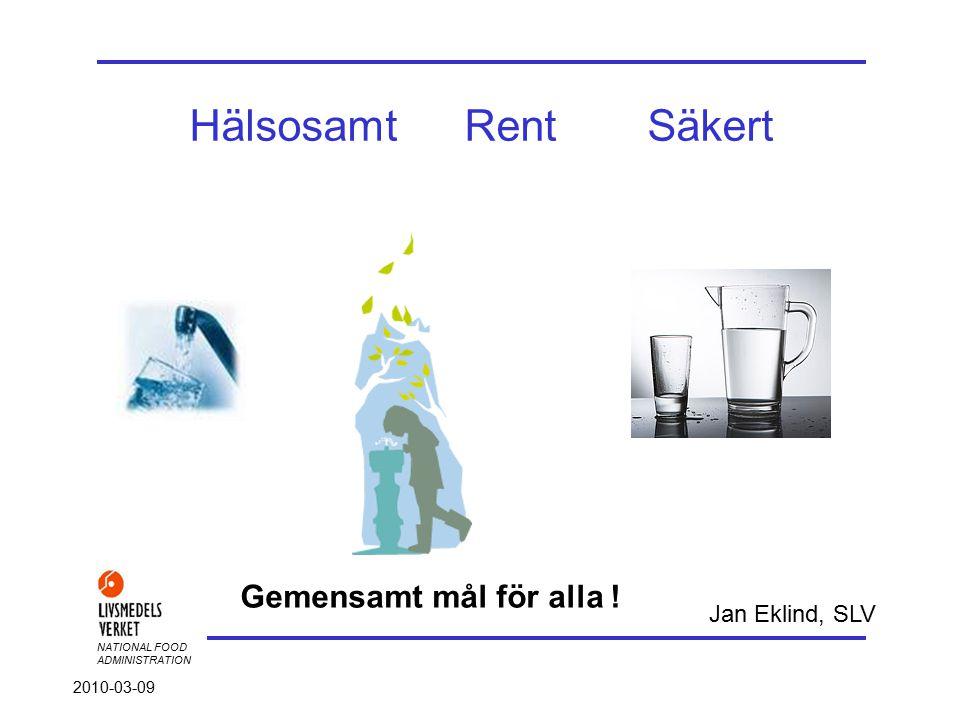 NATIONAL FOOD ADMINISTRATION 2010-03-09 Hotbild 2 Säkerhetspolisen 2005 Hotbilden mot Sverige är generellt sett låg.