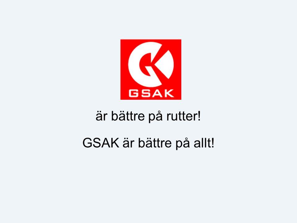 är bättre på rutter! GSAK är bättre på allt!