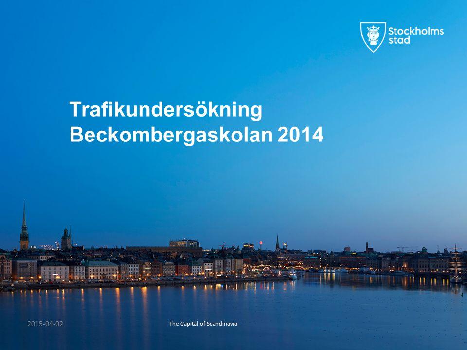 The Capital of Scandinavia 2015-04-02 Trafikundersökning Beckombergaskolan 2014