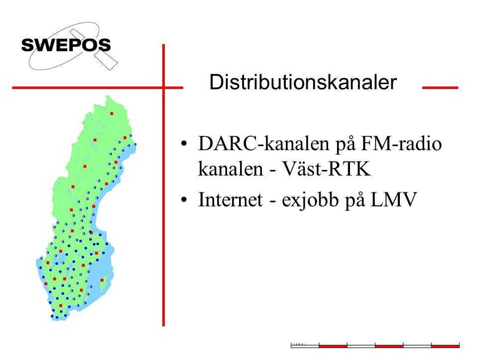 Distributionskanaler DARC-kanalen på FM-radio kanalen - Väst-RTK Internet - exjobb på LMV