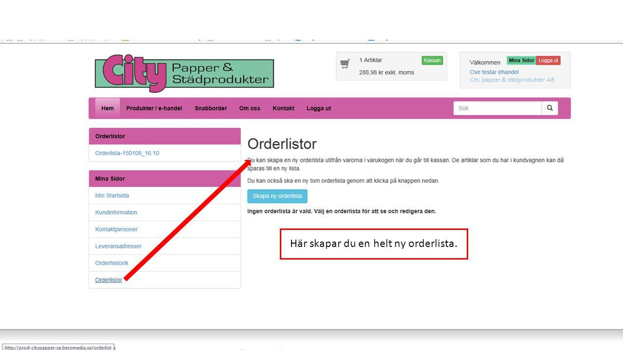 Du har beställt din order och den kommer behandlas av Citypappers ordermottagning.