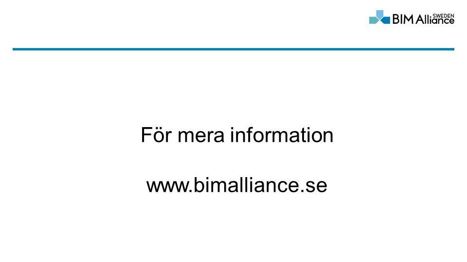 För mera information www.bimalliance.se