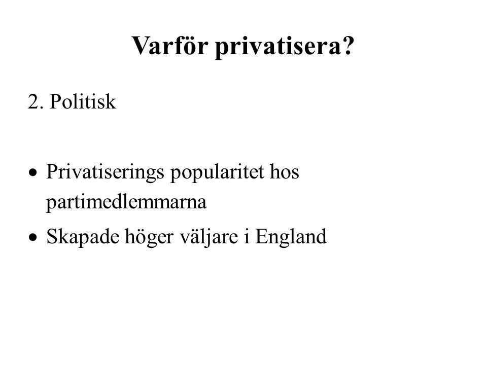 Varför privatisera. 2.