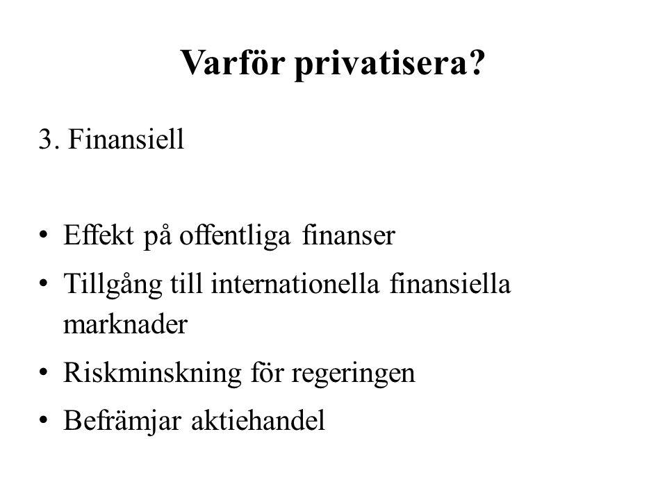 Varför privatisera. 3.