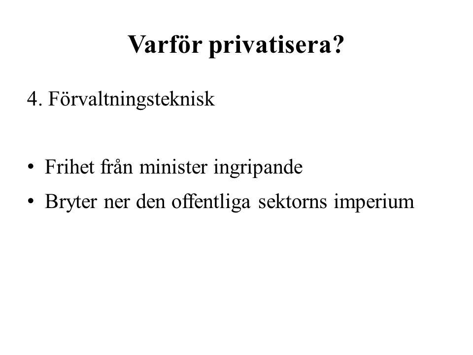 Varför privatisera. 4.