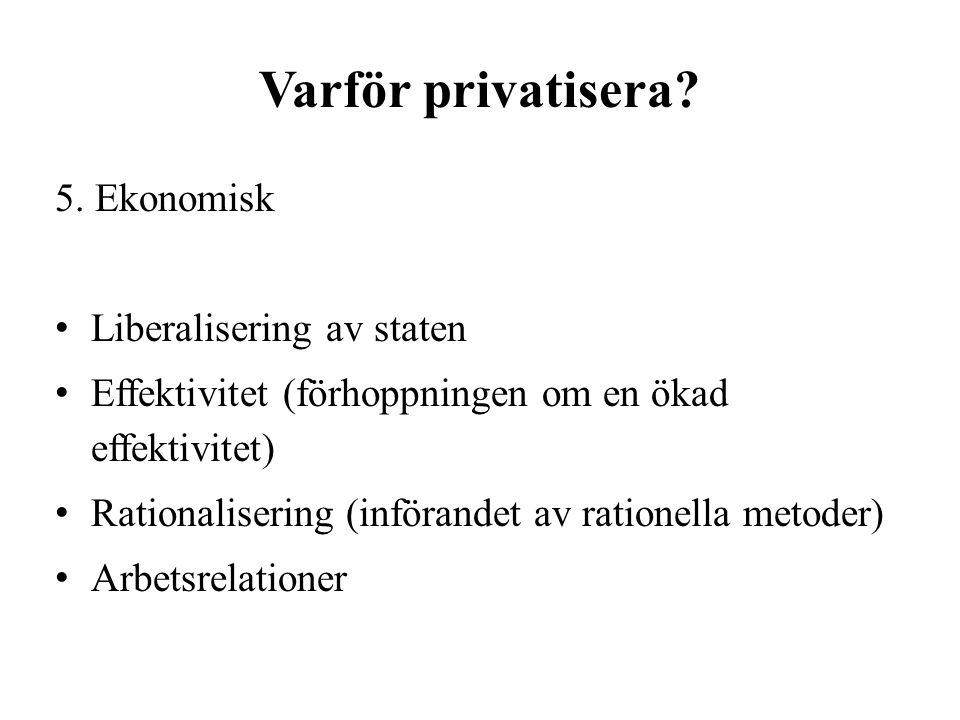Varför privatisera. 5.
