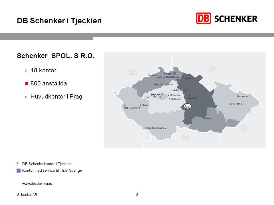 DB Schenker i Tjeckien Schenker SPOL.S R.O.