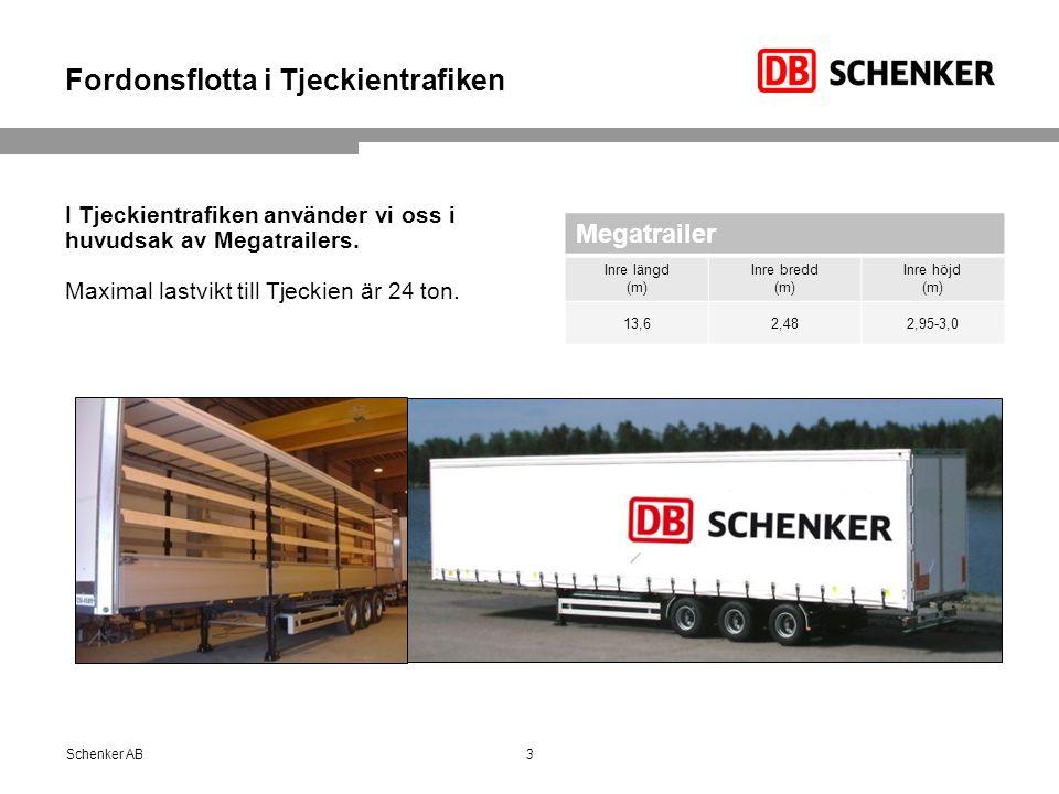 Fordonsflotta i Tjeckientrafiken I Tjeckientrafiken använder vi oss i huvudsak av Megatrailers.