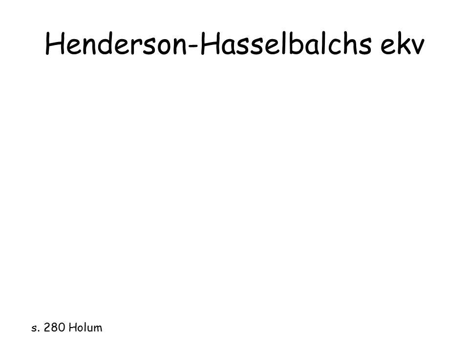 Henderson-Hasselbalchs ekv s. 280 Holum
