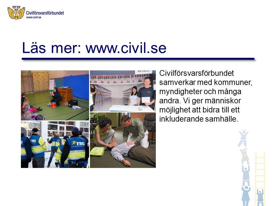 Civilförsvarsförbundet samverkar med kommuner, myndigheter och många andra.