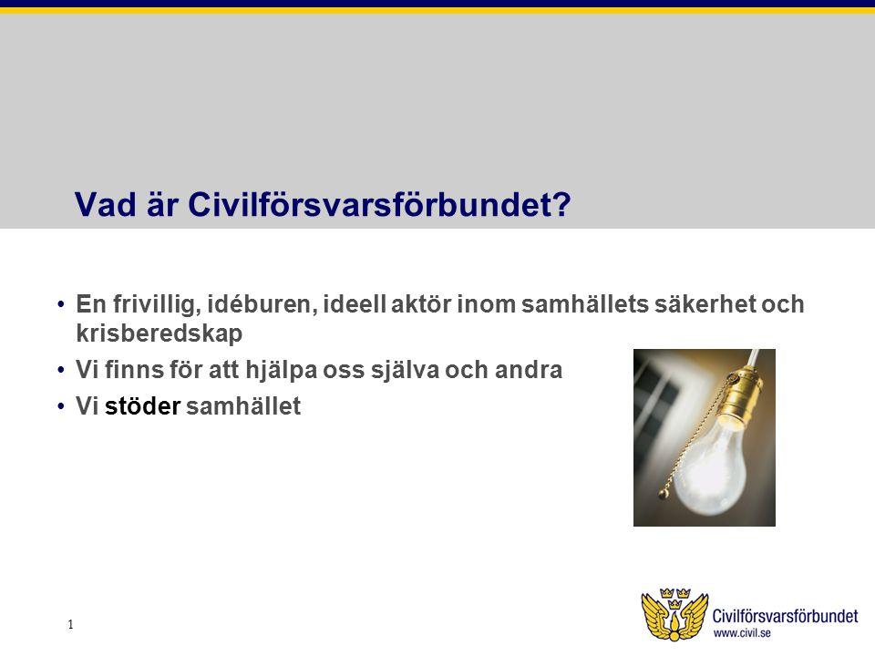 Vad erbjuder Civilförsvarsförbundet.