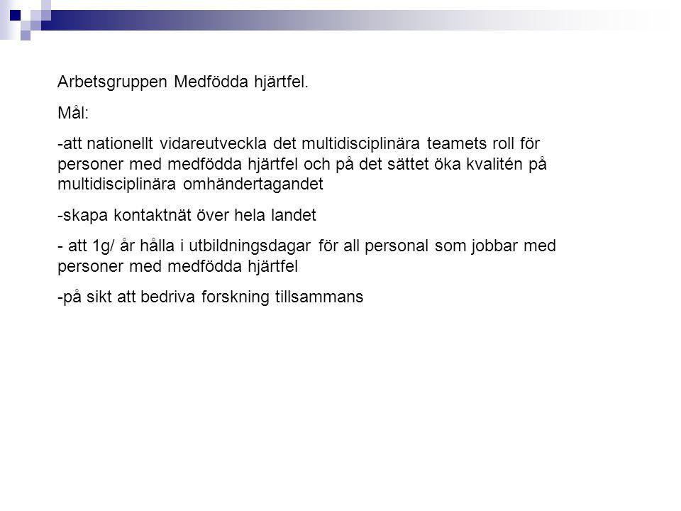 Arbetsgruppen Medfödda hjärtfel.