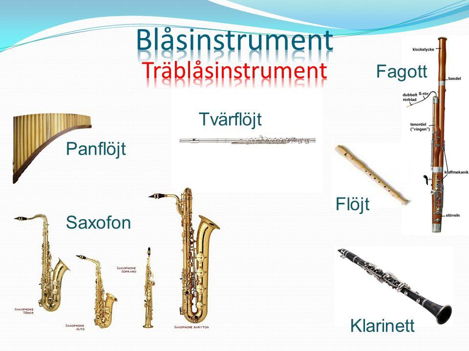 Fagott Saxofon Flöjt Klarinett Tvärflöjt Panflöjt