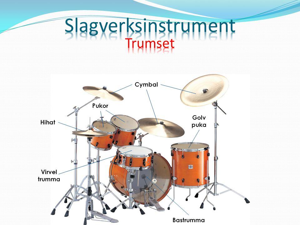 Golv puka Cymbal Pukor Virvel trumma Bastrumma Hihat