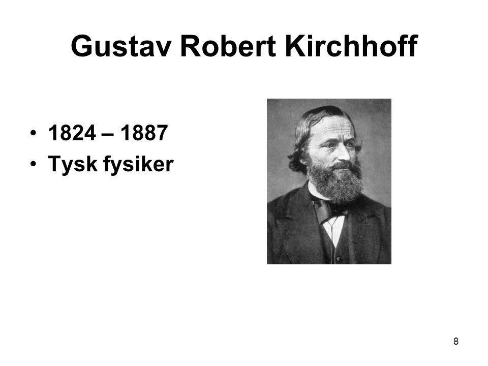 Gustav Robert Kirchhoff 1824 – 1887 Tysk fysiker 8