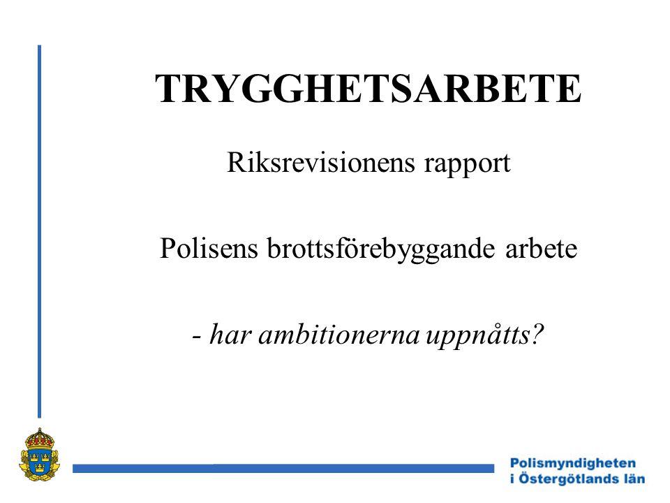 VÄSTERBOTTENS- MODELLEN Trygghetsarbete hos polismyndigheten i Västerbottens län