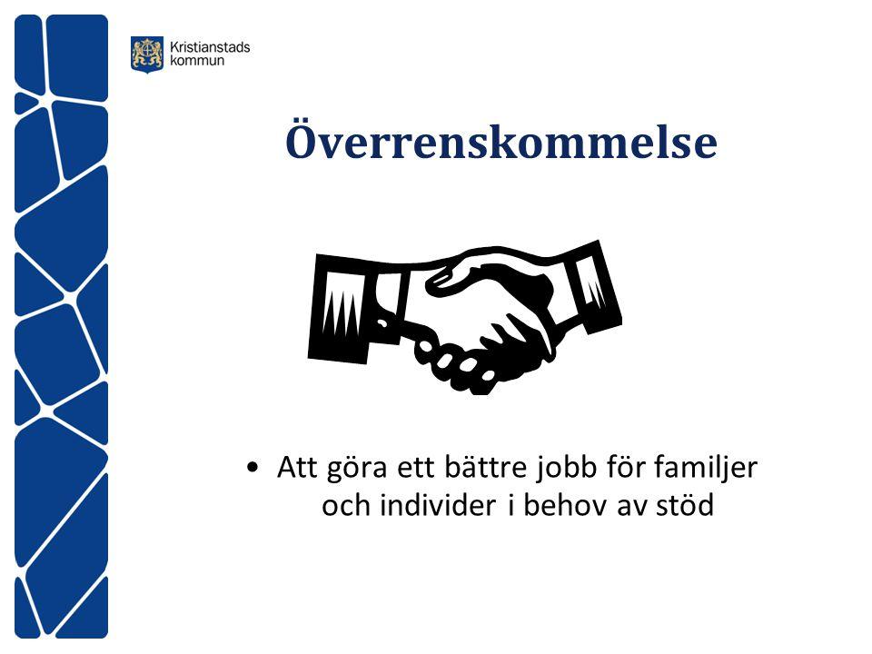 Överrenskommelse Att göra ett bättre jobb för familjer och individer i behov av stöd