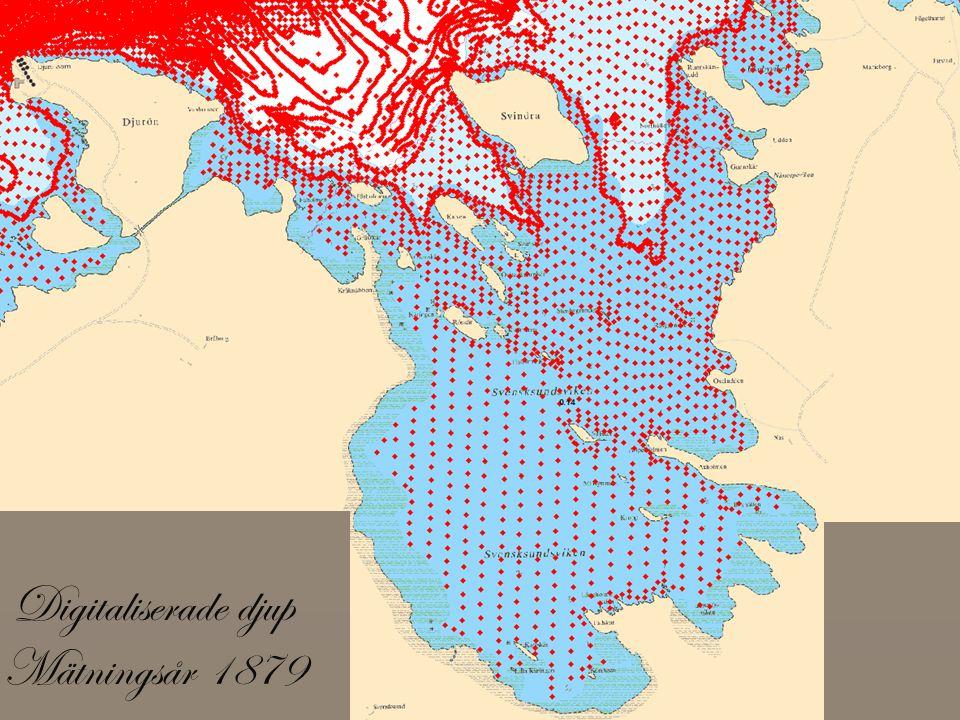 Digitaliserade djup Mätningsår 1879