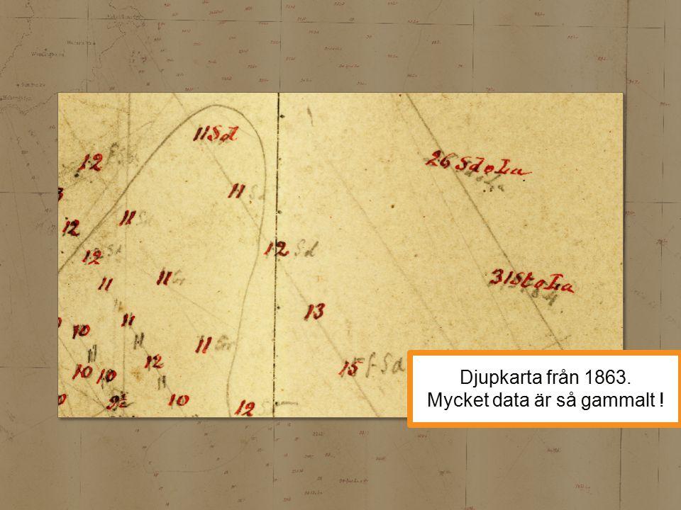 Djupkarta från 1863. Mycket data är så gammalt !