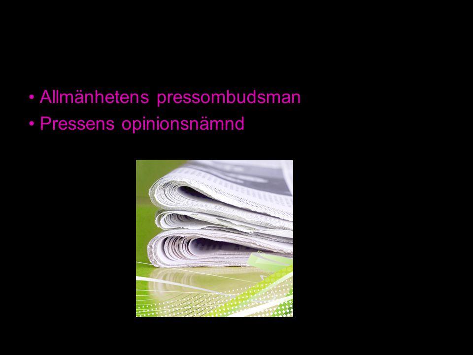 Allmänhetens pressombudsman Pressens opinionsnämnd