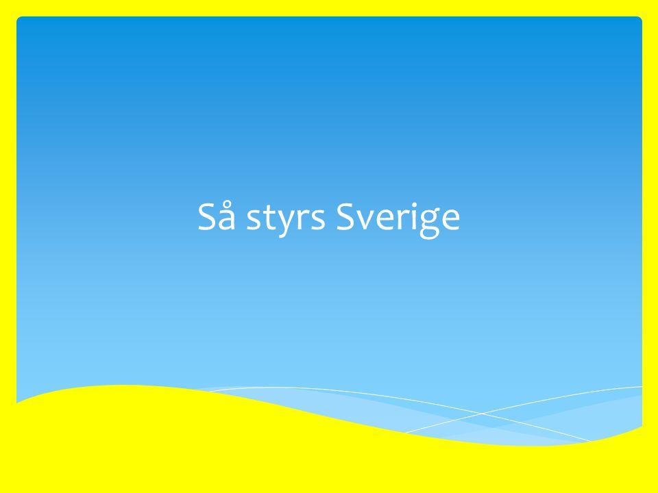  Demokrati betyder folkstyre. Sverige är en demokrati.