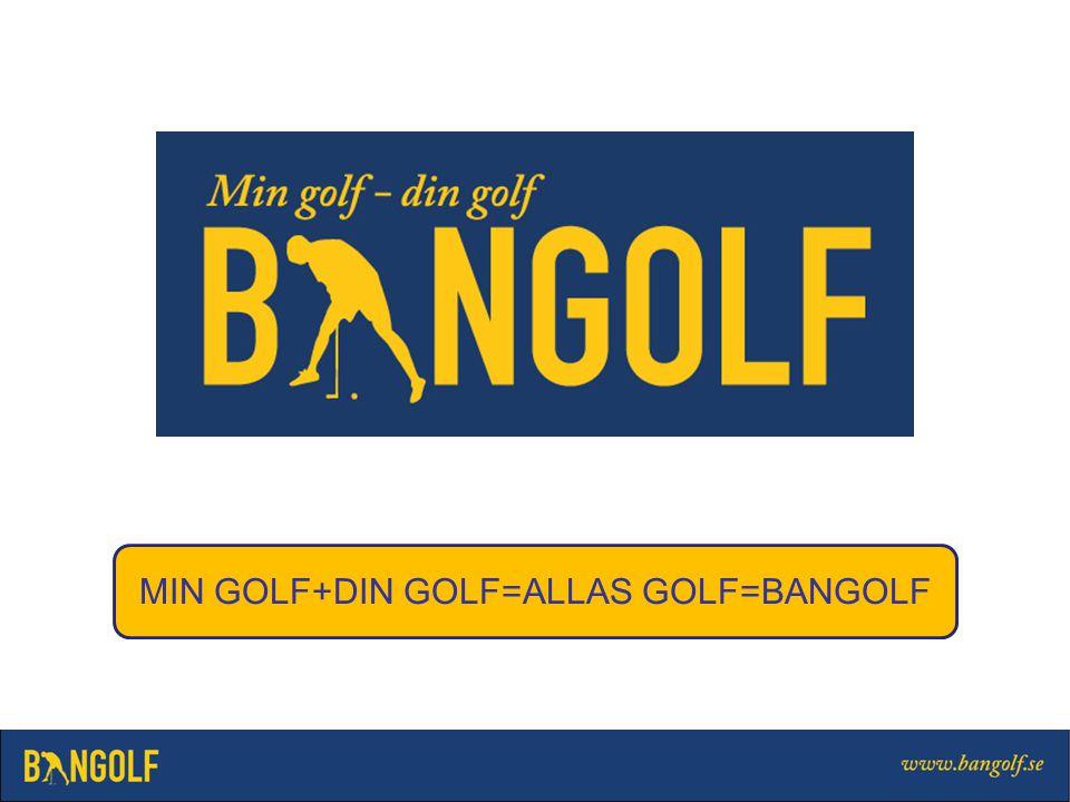MIN GOLF+DIN GOLF=ALLAS GOLF=BANGOLF