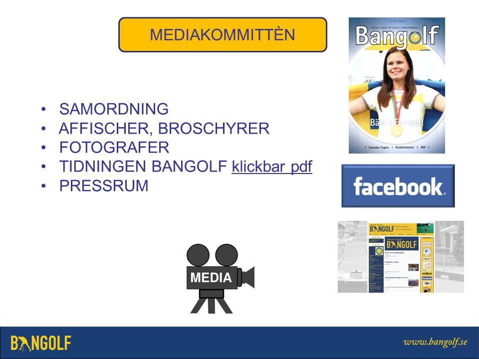 MEDIAKOMMITTÈN SAMORDNING AFFISCHER, BROSCHYRER FOTOGRAFER TIDNINGEN BANGOLF klickbar pdfklickbar pdf PRESSRUM