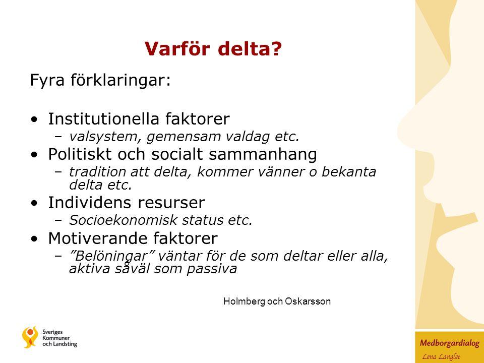 Lena Langlet Varför delta.