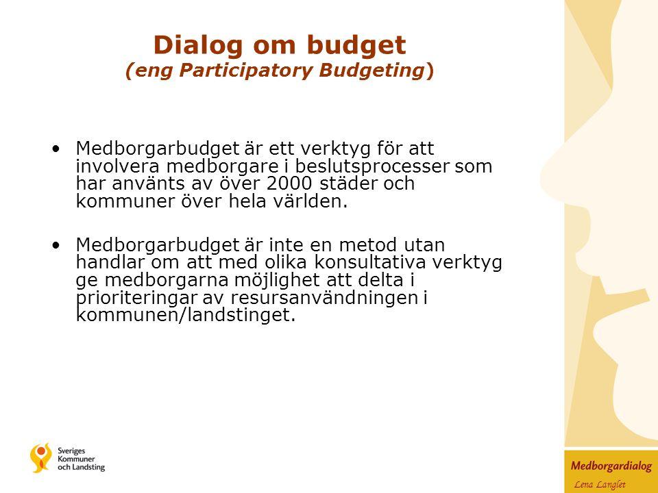 Medborgarbudget är ett verktyg för att involvera medborgare i beslutsprocesser som har använts av över 2000 städer och kommuner över hela världen.