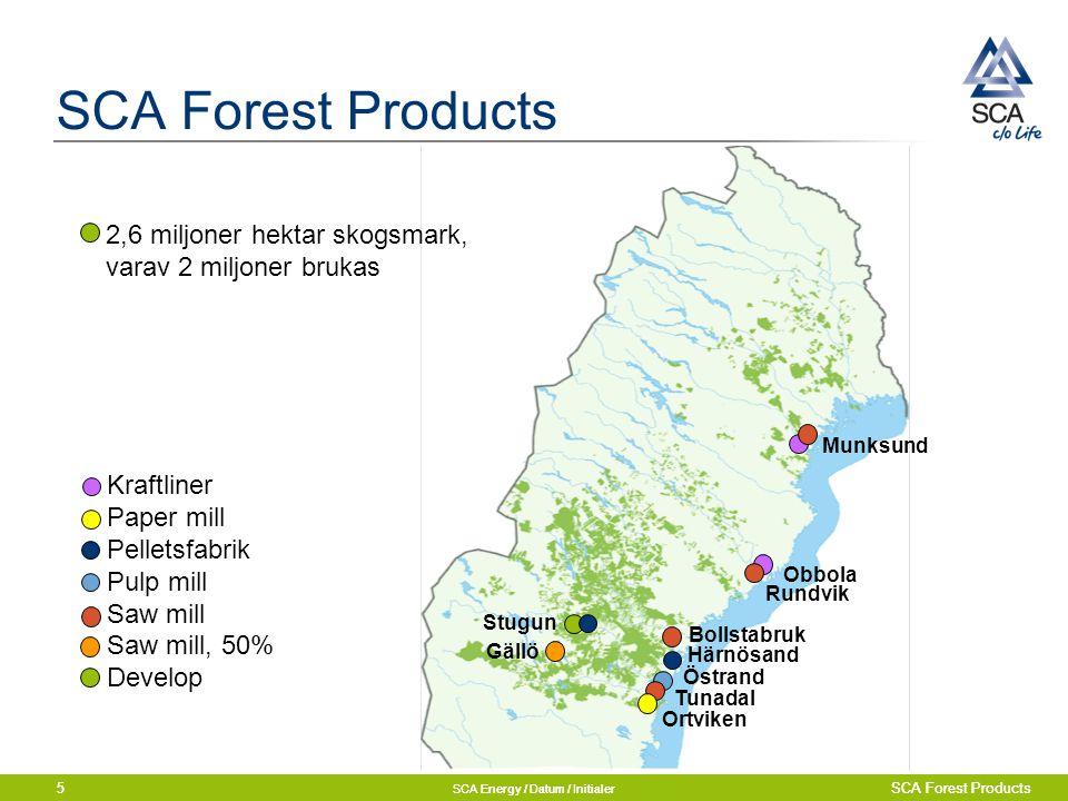 SCA Energy / Datum / Initialer SCA Forest Products5 SCA Energy / Datum / Initialer SCA Forest Products5 Munksund Obbola Rundvik Gällö Bollstabruk Östr