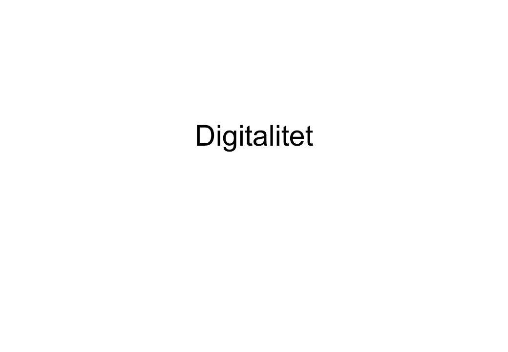 Analog Kontinuerlig Direkt proportionerlig mot källan Ex.