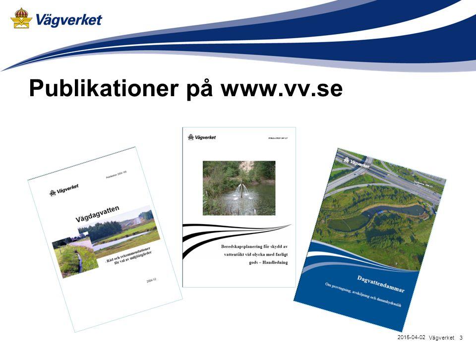 Publikationer på www.vv.se 3Vägverket 2015-04-02