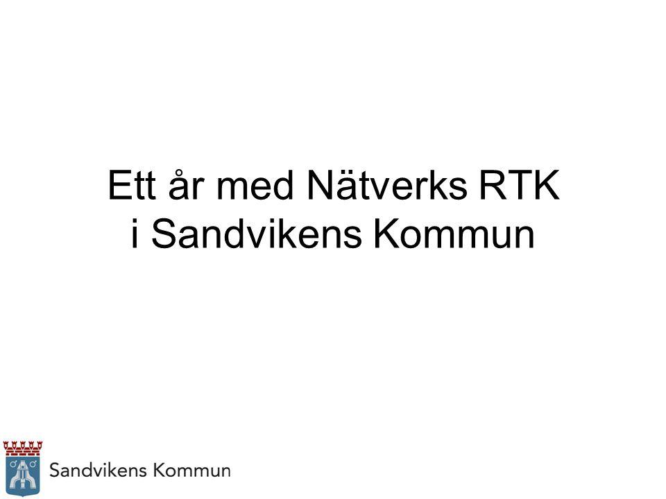 Ett år med Nätverks RTK i Sandvikens Kommun