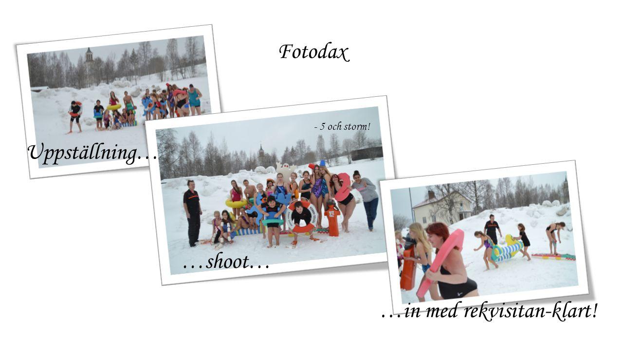 Fotodax Uppställning… …shoot… …in med rekvisitan-klart! - 5 och storm!