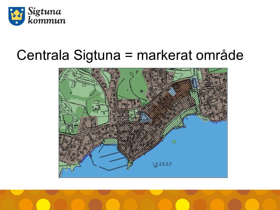 Centrala Sigtuna = markerat område