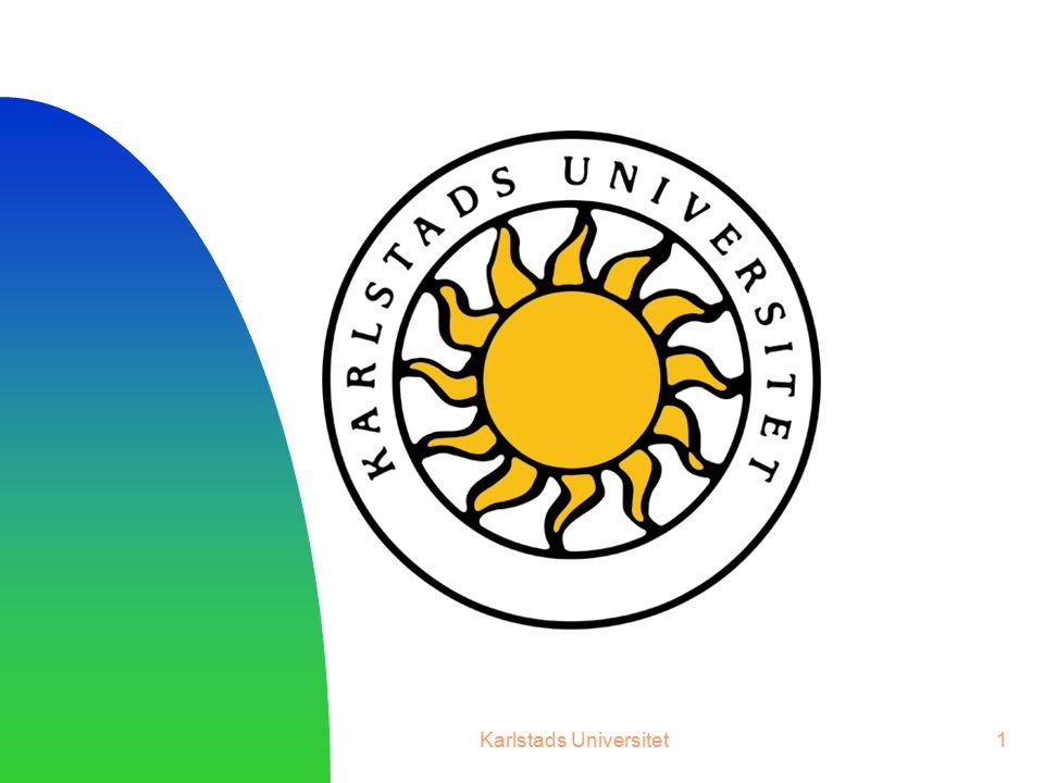 Karlstads Universitet12 Om k = 1 blir formeln a n+1 = 2∙a n Om a 1 = 5 får man följande graf