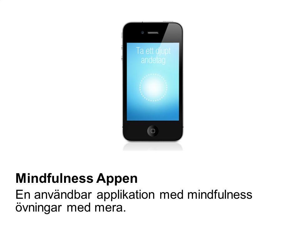 55 Mindfulness Appen En användbar applikation med mindfulness övningar med mera.