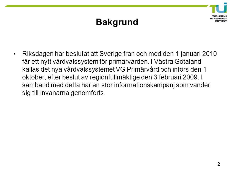 2 Bakgrund Riksdagen har beslutat att Sverige från och med den 1 januari 2010 får ett nytt vårdvalssystem för primärvården.
