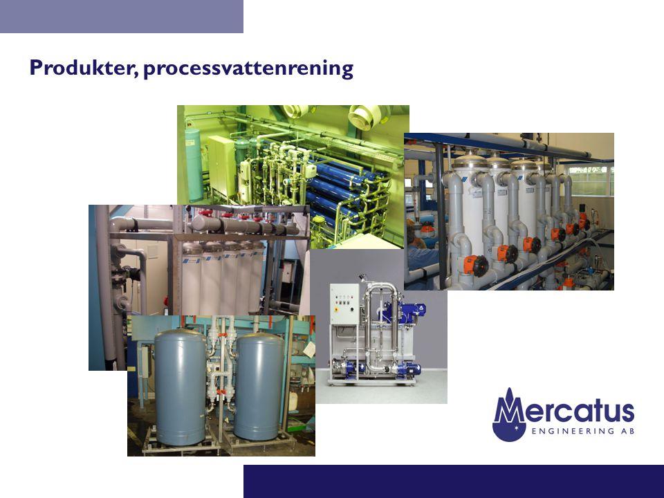 Produkter, processvattenrening